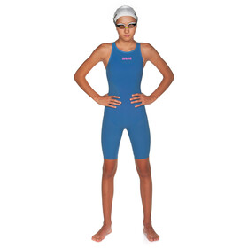 arena Powerskin R-Evo Costume intero da gara a pantaloncino Ragazza, blue/powder pink